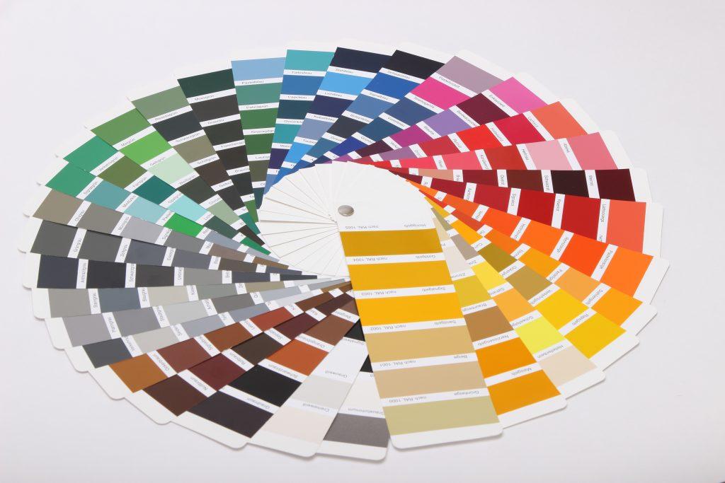 palette coloris RAL